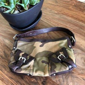 DKNY Camo Leather purse bag clutch